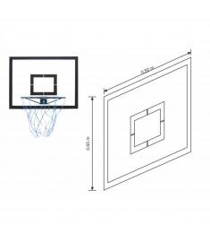 Tabela Basquete Aro Klopf 1015 - Rede Nylon - 65x50cm - Mdp 15mm