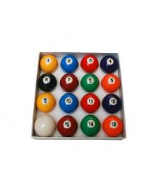Jogo de bolas numeradas e coloridas 50 mm - Sinuca / Bilhar