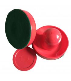 Kit Com 2 Rebatedores + 01 Disco P/ Aero Hockey vermelho