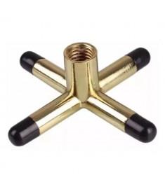 Cruzeta MONTANTE p/ Sinuca Metal Dourada IMPORTADA