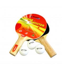 Kit para Ping Pong Tênis Mesa Klopf 5052 - Raquetes/Bolinhas/Rede