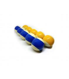 Bolas De Bilhar Sinuca Mata-mata Profissional Buffalos 54mm Azul/ Amarela