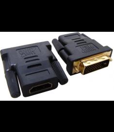 Adaptador Hitto HDMI (F) 19 pinos x DVI-D (M) 24 + 1 pinos