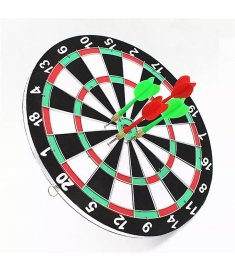 Jogo De Dardo Dart Board  - Dupla Face - 40cm Game C/ 6 Dardos