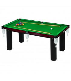 Mesa 4 em 1 Sinuca/Futebol Botão/Ping Pong/Jantar Klopf 1036 - 20mm MDF - Tacos e Bolas