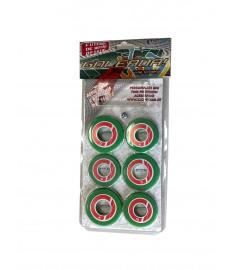 Jogo Time futebol botão Verde , vermelho e branco Klopf 4098