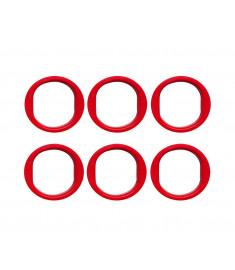 Jogo Com 6 Caçapas Plásticas Bolas 50mm (furo 70mm)